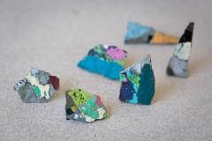 Graffiti earrings